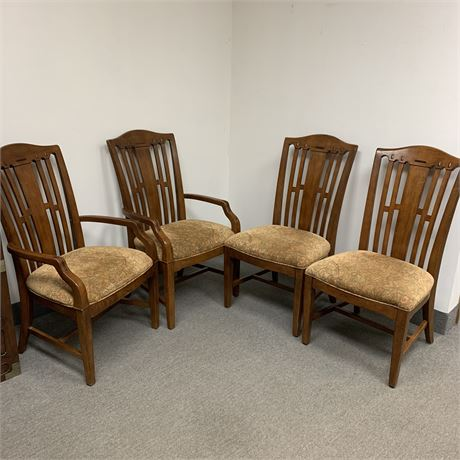 Set of 4 large Bernhardt dining chairs - 2 arm chairs 2 side chairs