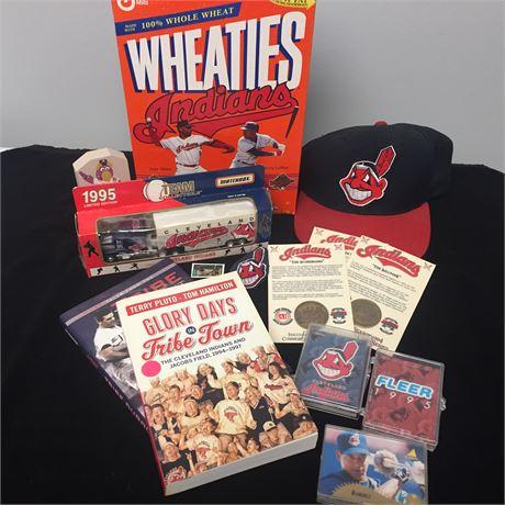 Lot of Cleveland Indians Memorabilia