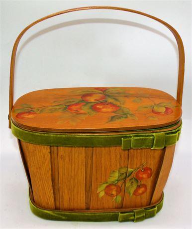 Box purse decoupage wood