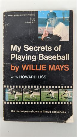 1970 Willie Mays Signed Book