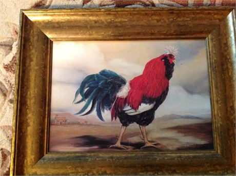 Vintage French Rooster Print by Alexandra Churchill