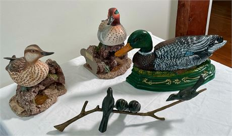 Group of Decorative Duck and Bird Items