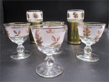 Vintage Gold Accent Glassware