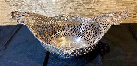 George III Reticulated Silver Basket