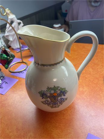 Lenox Autumn Pitcher with 24K Gold
