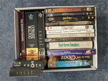 VHS Tapes and DVDs