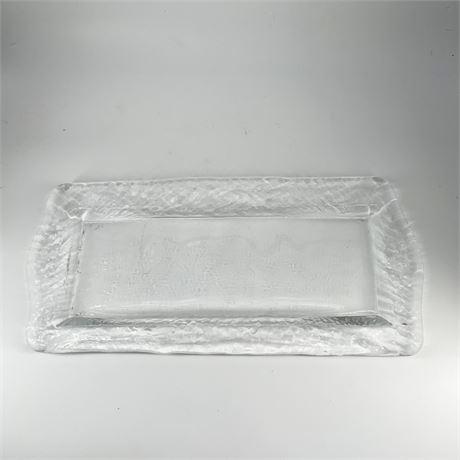 Art Glass Hostess Serving Tray