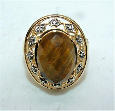Sterling Tigers Eye ring