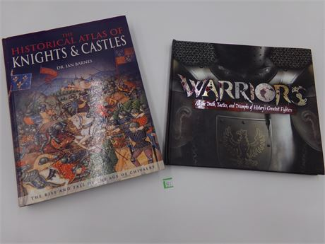 2 Book Lot Warriors and Knights and Castles