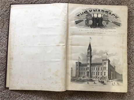1879 US Army New York Seventh Regiment The Knapsack Vol 1 Bound Periodicals Book