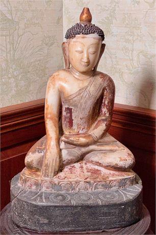 Early 17th C. Burmese Sitting Buddha Figure