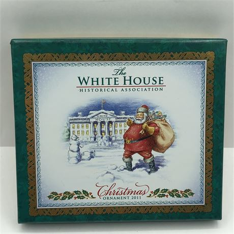 2011 US White House Presidential Christmas Ornament in Original Box Marriage
