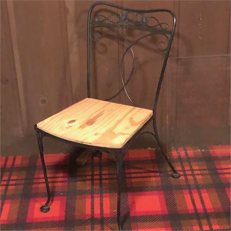 Vintage Iron Outdoor Chairs Set 6
