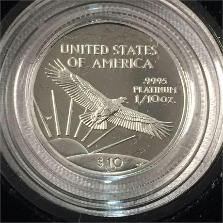 US Mint American Eagle 1/10 Ounce Proof Platinum Bullion Coin '97