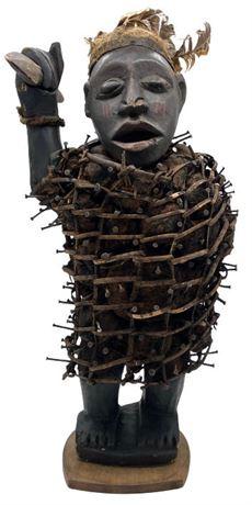 Kongo Peoples Nkisi Nkondi Nail Fetish Power Figure