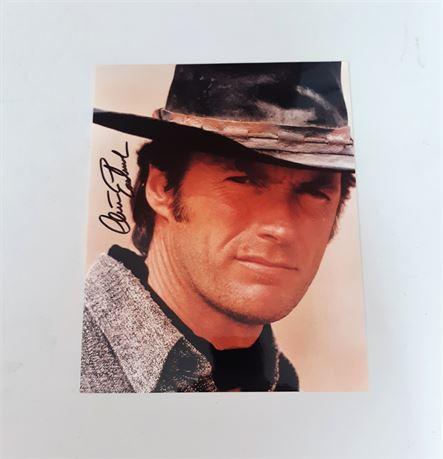 Clint Eastwood Signed 8x10 Photo w/COA