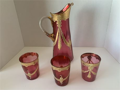 Pitcher and Glass lot