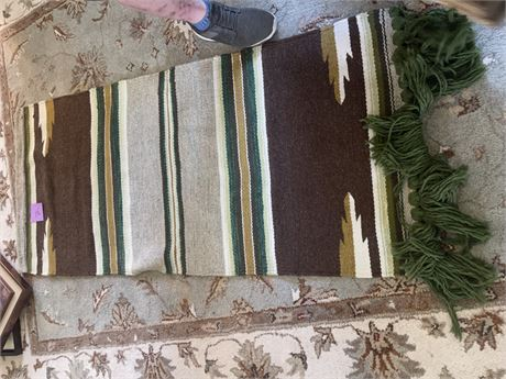 Heavy woven Southwest Hanging Rug
