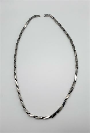 """Heavy Silver Tone Chain 23"""" (Hook is Missing)"""