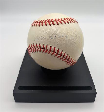 Arnold Schwarzenegger Autographed Official Major League Baseball