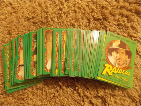 1981 Topps Raiders of The Lost Ark cards, complete set (88)
