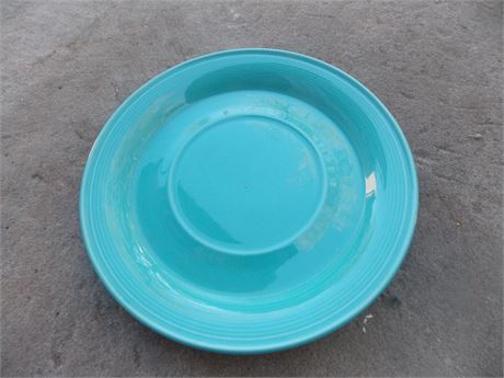 "Vintage Nancy Calhoun Dark Aqua stoneware - 7 1/2"" saucer"