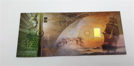 KARAT PAY GOLD 0.10 GRAM OF 999 FINE GOLD CASH GOLD
