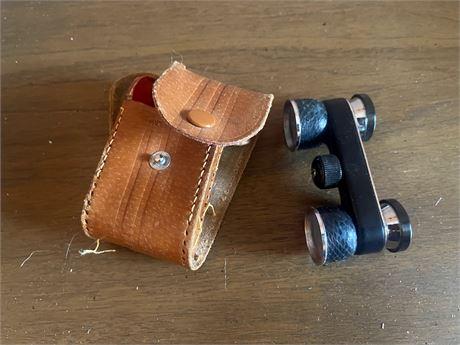 Opera Binoculars 3X made in Japan with Original Leather Case