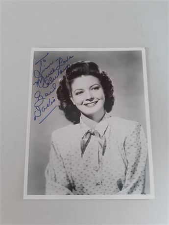 Gail Davis Signed 8x10 Photo w/COA