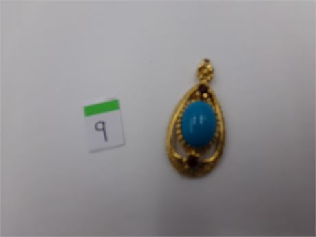 Blue Colored Celebrity Pendent