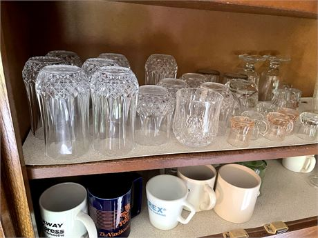 Lead crystal dishes