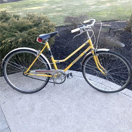 Kia Sport 3-Speed Yellow Cruiser Bike