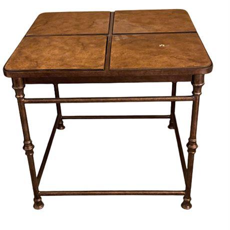Flexsteel Iron & Tile End Table