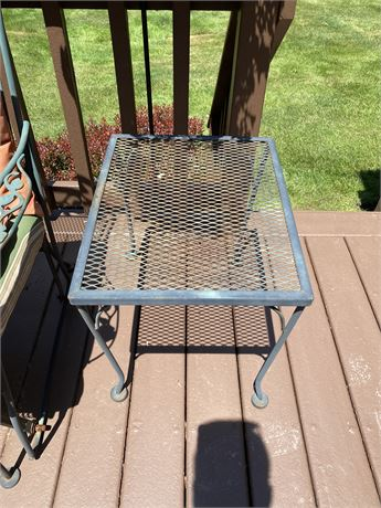 Vintage Wrought Iron End Table