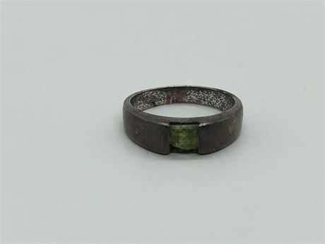 Peridot Sterling Silver Ring Size 6 1/2
