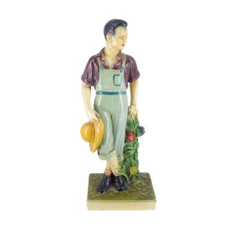Florentine Art Farmer Boy Statue