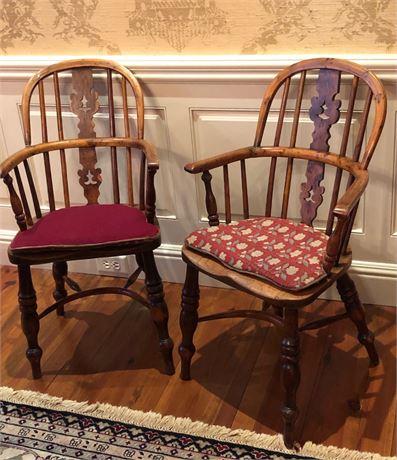 Pair of Diminutive Windsor Chairs