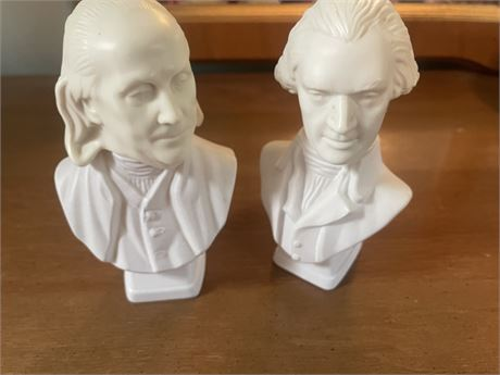 Franklin and Jefferson  Busts Avon Aftershave