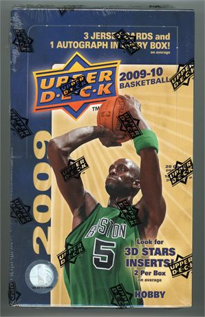 2009-10 UPPER DECK BASKETBALL HOBBY BOX - POSSIBLE STEPHEN CURRY ROOKIE