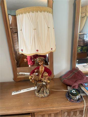 Ornate Oriental Music Lyre Lamp