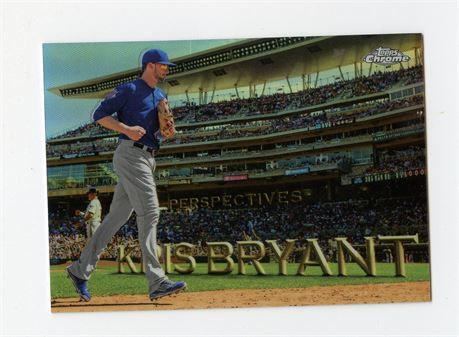 KRIS BRYANT 2016 TOPPS CHROME PERSPECTIVES REFRACTOR PC-7 CHICAGO CUBS