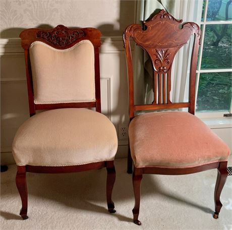 Victorian and Slat Back Chairs