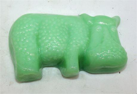 Jadeite glass Hippo