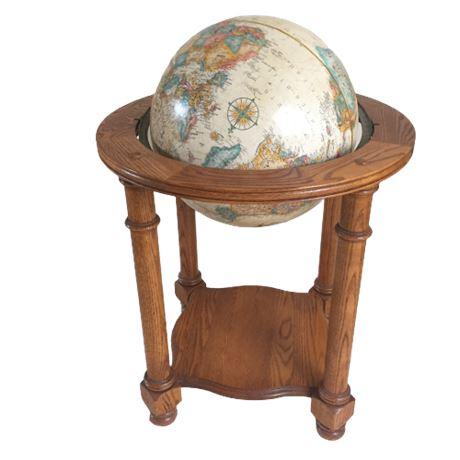 Globe in Oak Stand
