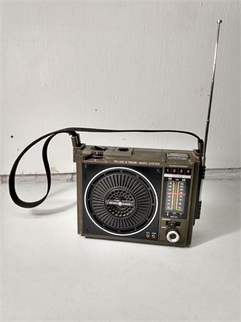 Vintage army green general electric radio