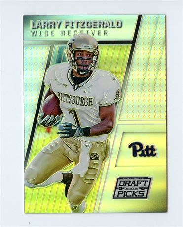 LARRY FITZGERALD 216 PRIZM DRAFT SILVER REFRACTOR #63 PITTSBURGH PANTHERS
