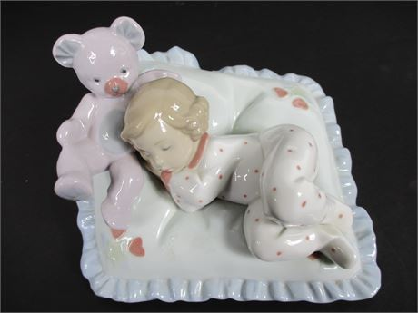 Lladro Counting Sheep