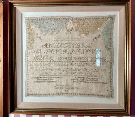1855 Alphabet and Proverb Sampler
