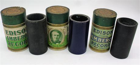 Antique Edison cylinder records