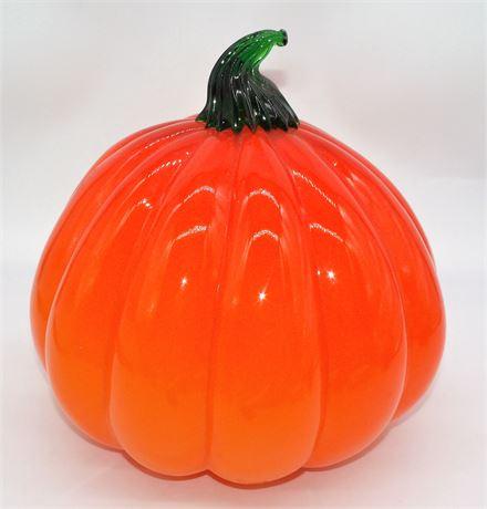 "Heavy glass Pumpkin 10 1/2"""